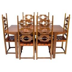 Jordi Vilanova i Bosh Mid-Century Mediterranean Modern Ash Dining Room Set