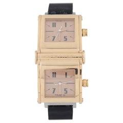 Jorg Hysek 18 Karat Yellow Gold Limited Edition of 200 Dual Time Quartz Watch