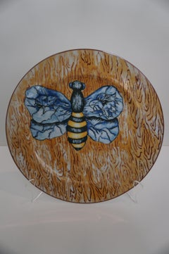 """Bee on Wood"" plate"