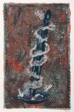 Large Silkscreen Serigraph Neo Figurative Expressionist Print Jorg Immendorff