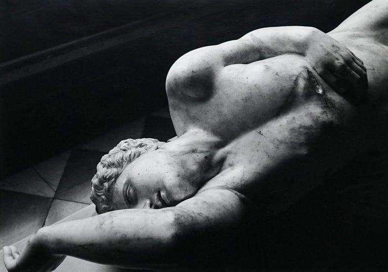 Jörg Krichbaum Black and White Photograph - Statuary - Off-Print # 2 - 1976 - Minimalist Black & White Photography