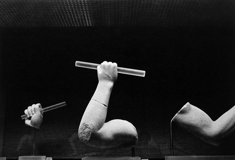 Jörg Krichbaum Black and White Photograph - Statuary - Off-Print # 3 - 1978 - Minimalist Black & White Photography