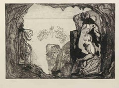 Homage to Michelangelo - Original Etching by Jorge Castillo - 1975