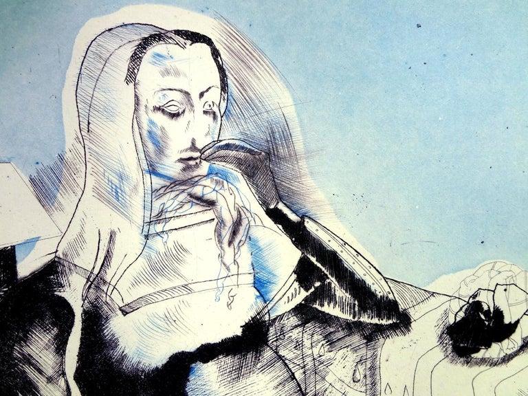 JORGE CASTILLO: Marienza en Domingo - Etching on paper  Spanish Surrealism 2