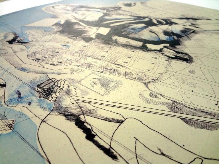 JORGE CASTILLO: Marienza en Domingo - Etching on paper  Spanish Surrealism 3