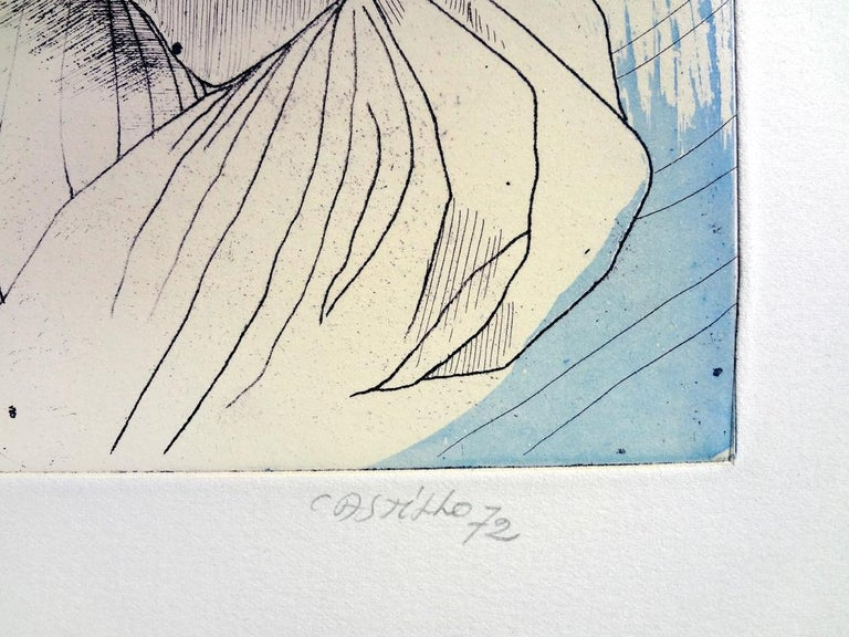JORGE CASTILLO: Marienza en Domingo - Etching on paper  Spanish Surrealism 4