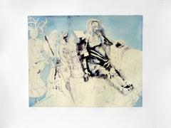 JORGE CASTILLO: Marienza en Domingo - Etching on paper  Spanish Surrealism