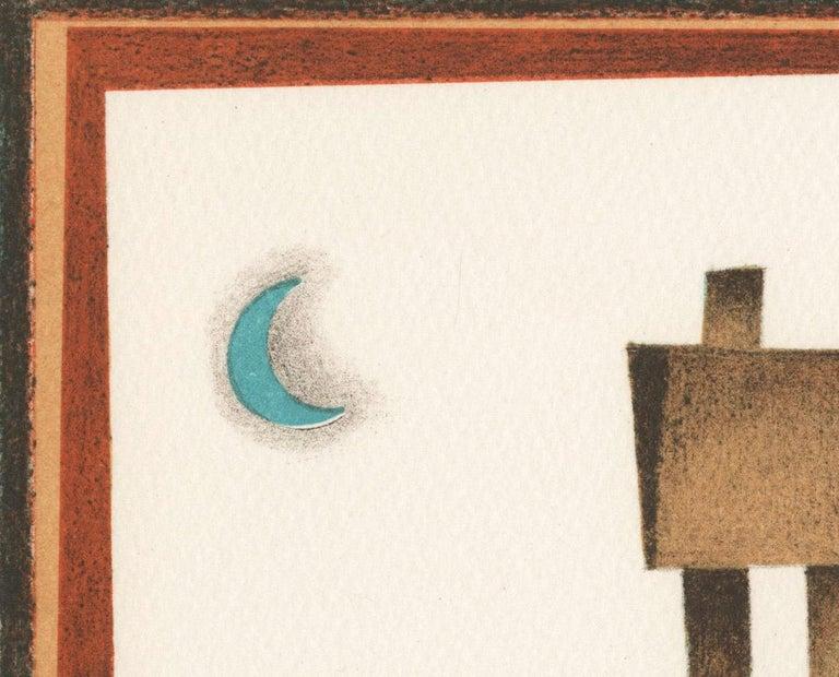 Sontando (Dreaming) - Brown Figurative Print by Jorge Dumas
