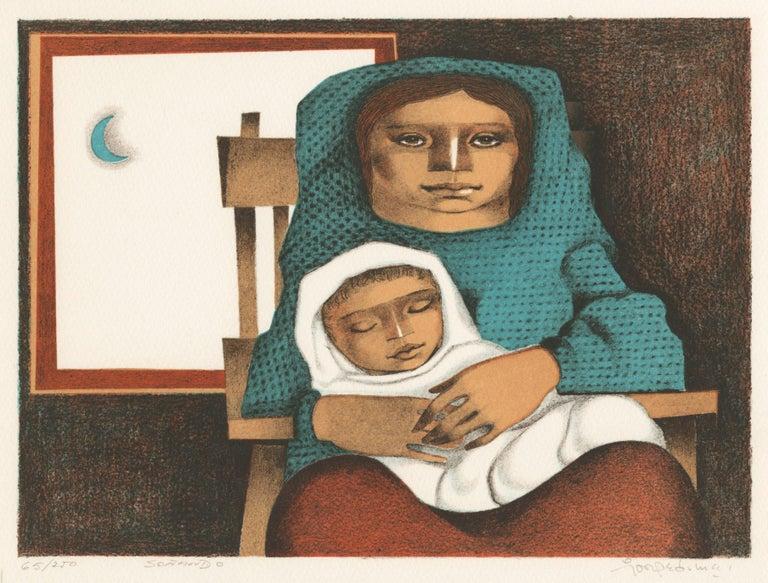 Jorge Dumas Figurative Print - Sontando (Dreaming)