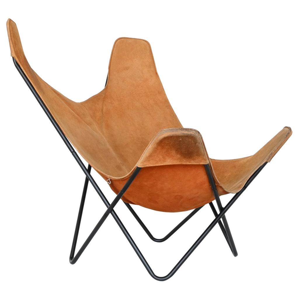 Jorge Hardoy Ferrari Brown Butterfly Chair Knoll, USA, 1970