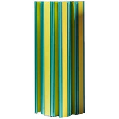 Jorge Penadés Aluminium Pez Vaca of Piscis Collection Contemporary Yellow Green