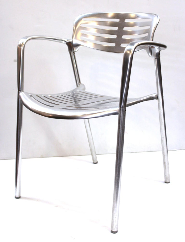 Spanish Jorge Pensi for Knoll Modern Aluminum 'Toledo' Chairs For Sale