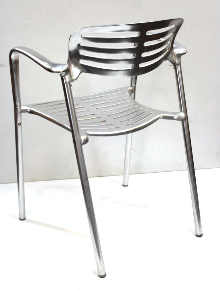 Jorge Pensi for Knoll Modern Aluminum 'Toledo' Chairs In Good Condition For Sale In New York, NY