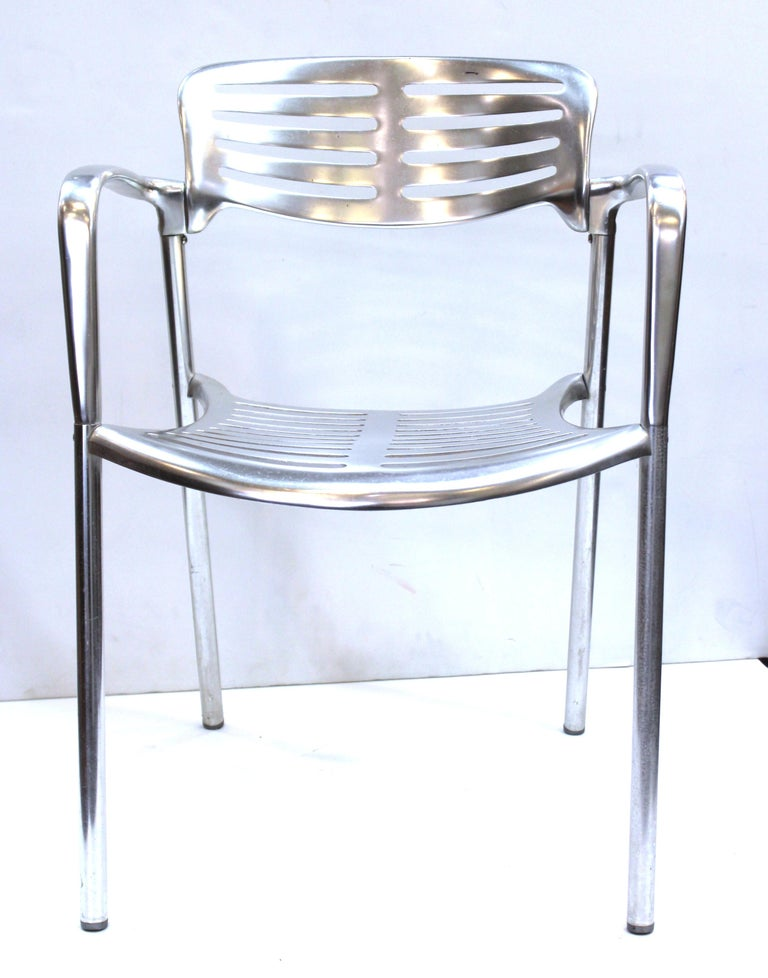 20th Century Jorge Pensi for Knoll Modern Aluminum 'Toledo' Chairs For Sale