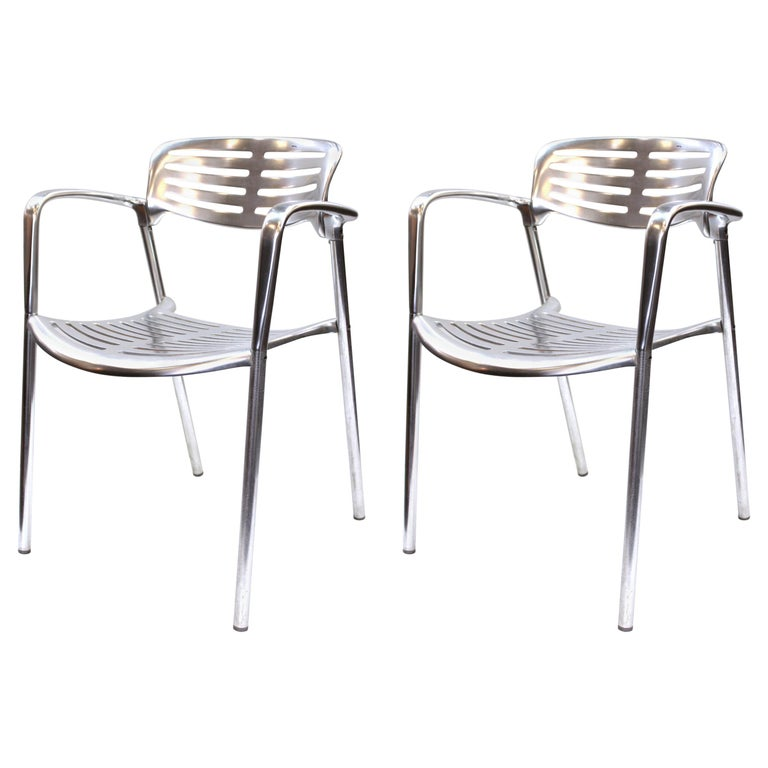 Jorge Pensi for Knoll Modern Aluminum 'Toledo' Chairs For Sale