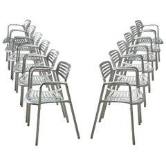 Jorge Pensi Large Set of Aluminum Armchairs +30