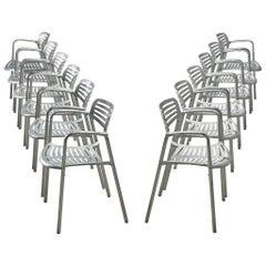 Jorge Pensi 'Toledo' Armchairs in Aluminum