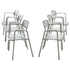 Jorge Pensi 'Toledo' Armchairs in Aluminium