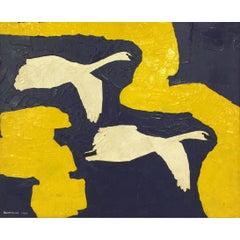 """Jorge Quartilho Acrylic on Canvas """"Juntos"""" 1989 Rio de Janeiro"""