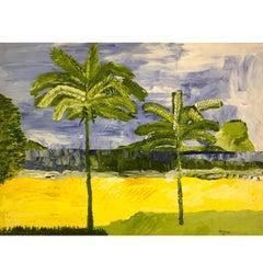 """Jorge Quartilho Acrylic on Canvas """"Leblon"""", 1989  Rio de Janeiro"""