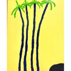"""Jorge Quartilho Acrylic on Canvas """"Quatro"""", 1991 Rio de Janeiro"""