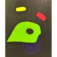 """Jorge Quartilho Acrylic on Canvas """"Quatro"""" 1991 Rio de Janeiro"""