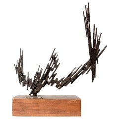 Jorge Stanyo Kaminsky Mid-Century Modern Abstract Brutalist Sculpture, 1977