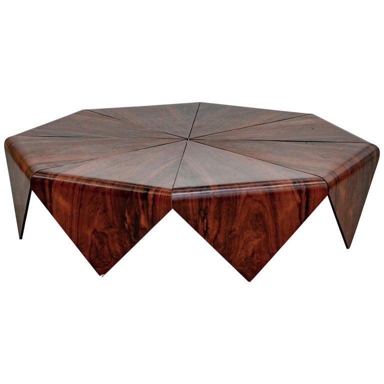 "Jorge Zalszupin Coffee Table Model ""Petalas"", Brazil, 1960s For Sale"