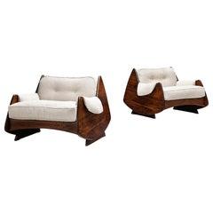 Jorge Zalszupin 'Ameba' Armchairs for L'Atelier