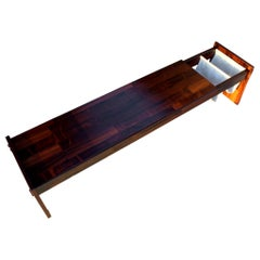 Jorge Zalszupin Bench for L'atelier Brazilian Laminated Rosewood