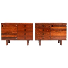 Jorge Zalszupin Brazilian Rosewood Side Cabinets Produced by L'Atelier