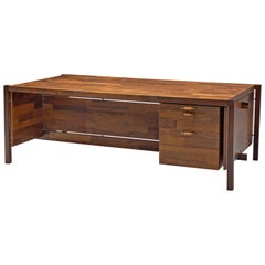 Jorge Zalszupin Executive Desk in Rosewood, 1960s