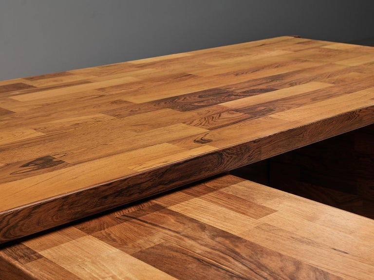 Jorge Zalszupin Executive Desk in Rosewood For Sale 4