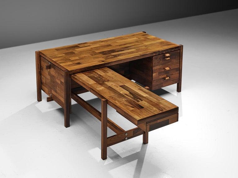 Mid-Century Modern Jorge Zalszupin Executive Desk in Rosewood For Sale