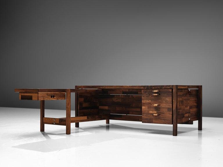 20th Century Jorge Zalszupin Executive Desk in Rosewood For Sale