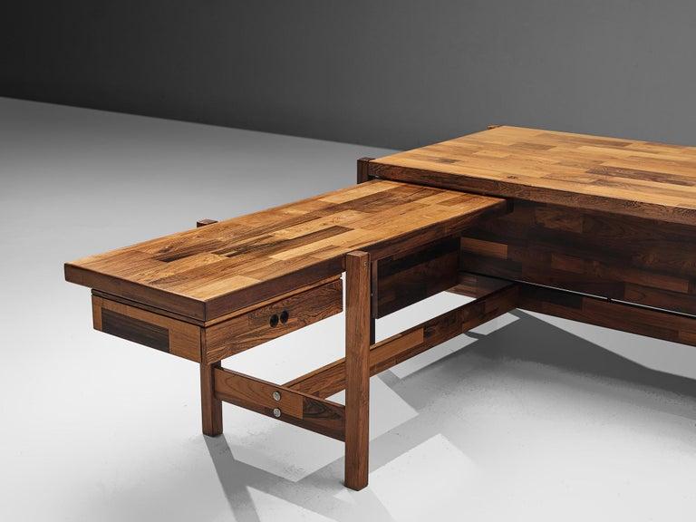 Jacaranda Jorge Zalszupin Executive Desk in Rosewood For Sale