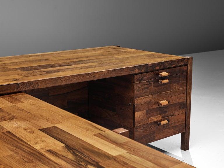 Jorge Zalszupin Executive Desk in Rosewood For Sale 1