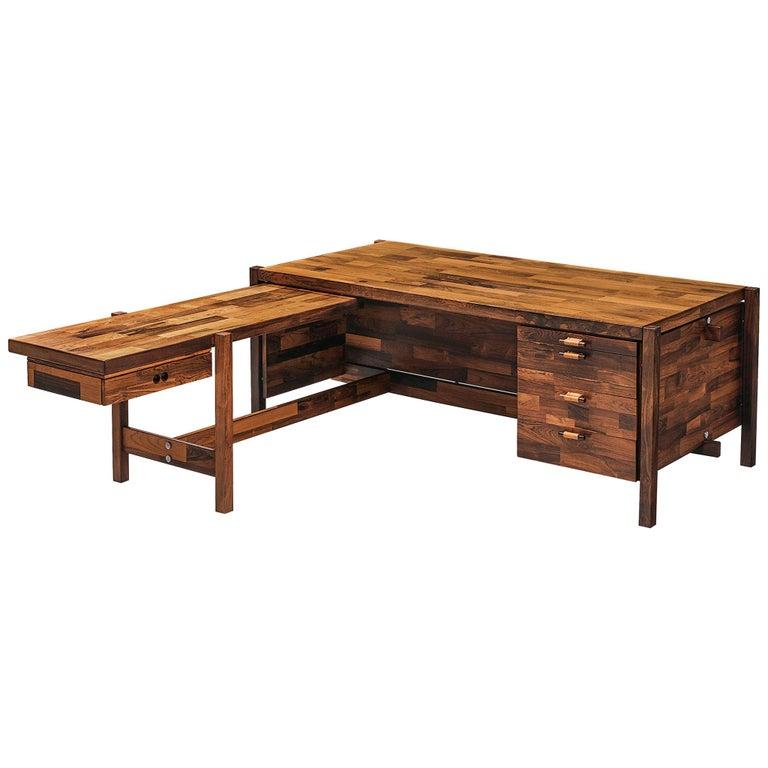 Jorge Zalszupin Executive Desk in Rosewood For Sale