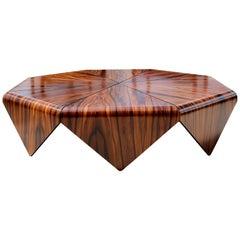 "Jorge Zalszupin for L'atelier ""Petalas"" Coffee Table in Jacaranda"