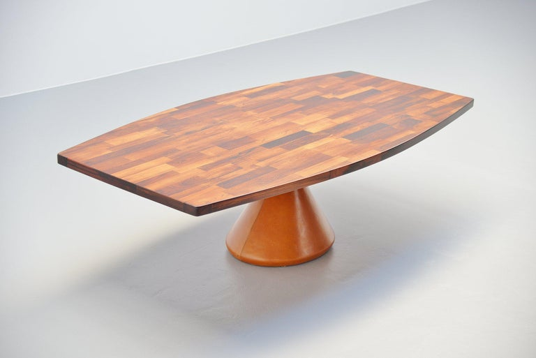Mid-Century Modern Jorge Zalszupin Guanabara Pedestal Dining Table, Brazil, 1960 For Sale