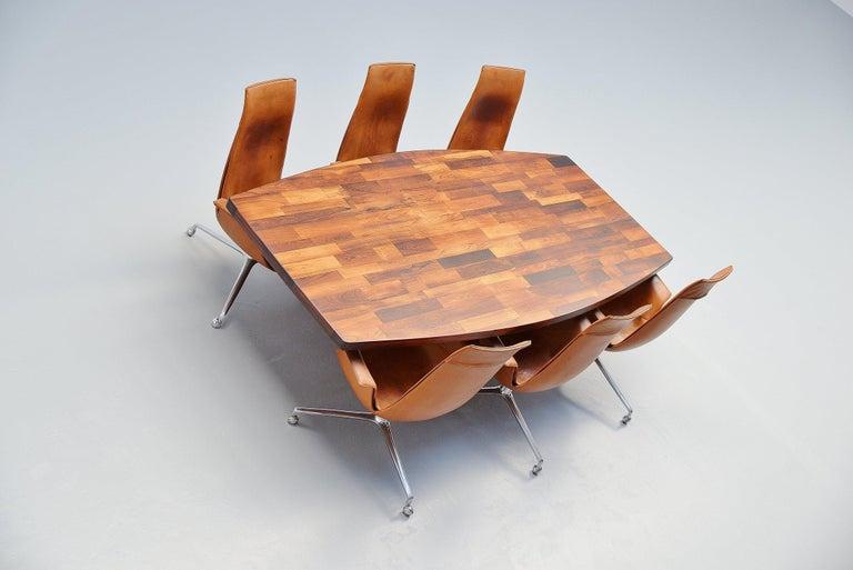 Jorge Zalszupin Guanabara Pedestal Dining Table, Brazil, 1960 For Sale 2
