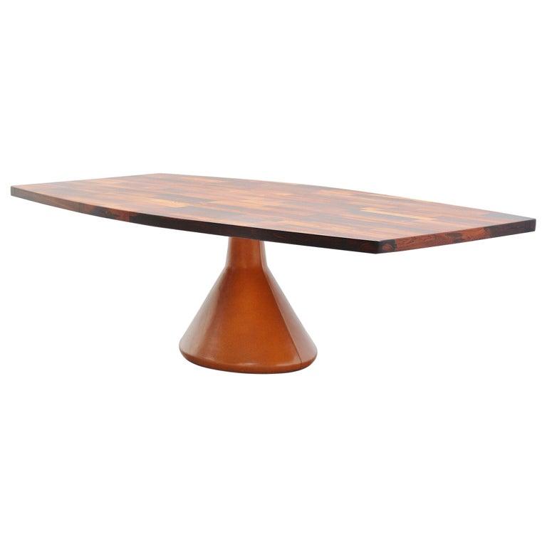 Jorge Zalszupin Guanabara Pedestal Dining Table, Brazil, 1960 For Sale