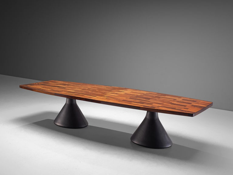 Mid-Century Modern Jorge Zalszupin Large 'Guanabara' Pedestal Dining Table For Sale