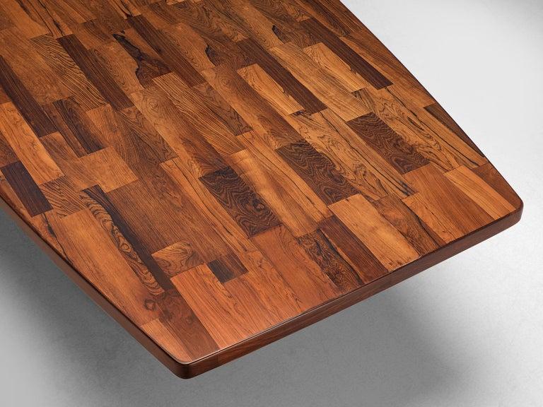 Metal Jorge Zalszupin Large 'Guanabara' Pedestal Dining Table For Sale