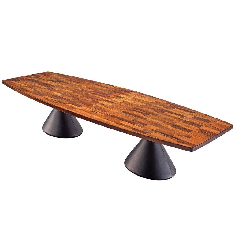 Jorge Zalszupin Large 'Guanabara' Pedestal Dining Table For Sale