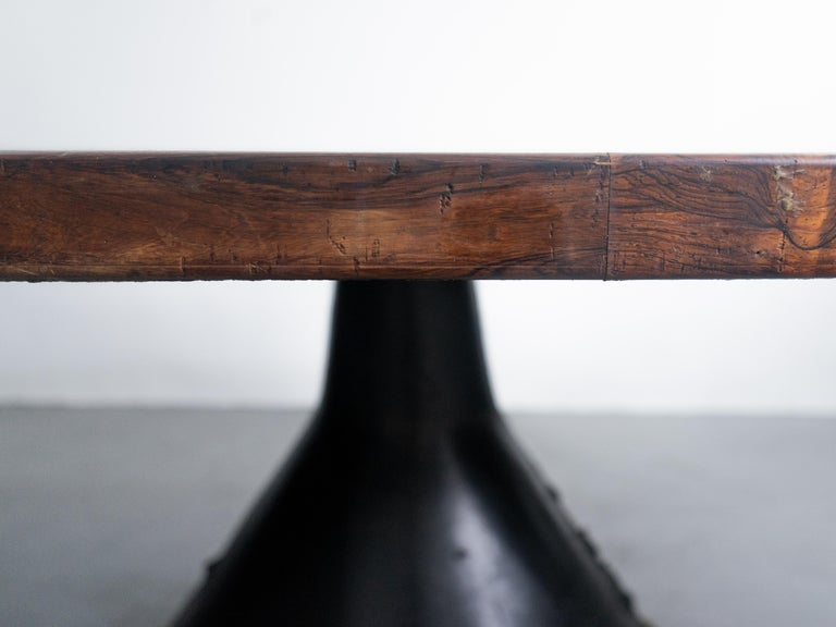 Brazilian Jorge Zalszupin Large 'Guanabara' Rosewood Vintage Dining Table For Sale