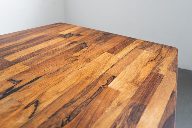Jorge Zalszupin Large 'Guanabara' Rosewood Vintage Dining Table In Good Condition For Sale In Clifton, NJ