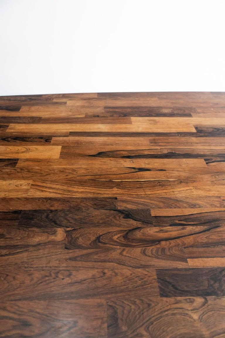 Jorge Zalszupin Large 'Guanabara' Rosewood Vintage Dining Table For Sale 2