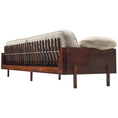 Lineart Moveis e Decoracoes Large Sofa in Rosewood and Fabric, 1960s