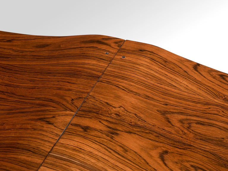 Jorge Zalszupin 'Onda' Bench in Rosewood For Sale 3